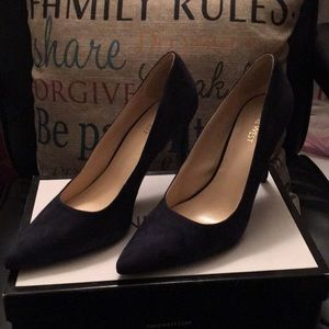 Navy Suede Pumps by Nine West..NWOT